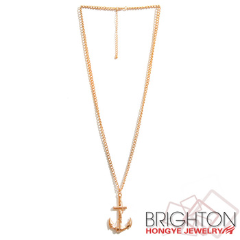 Gold anchor pendant necklace n7 7942a 2700 buy gold necklace gold anchor pendant necklace n7 7942a 2700 aloadofball Image collections