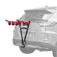 Style V Universal Tow Ball Mounted 3-Bikes Bicycle Rear Carrier Rack for Car
