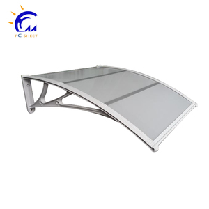 rain protection polycarbonate window awning support