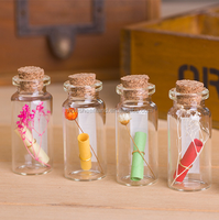 Mini Clear Wishing Message Glass Bottles Vials With Cork