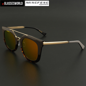 c363f623fe0 Latest design custom sunglass supplier wholesale acetate frame with mirror  lenses