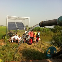 solar and electric water pump for irrigation system in deep well,river