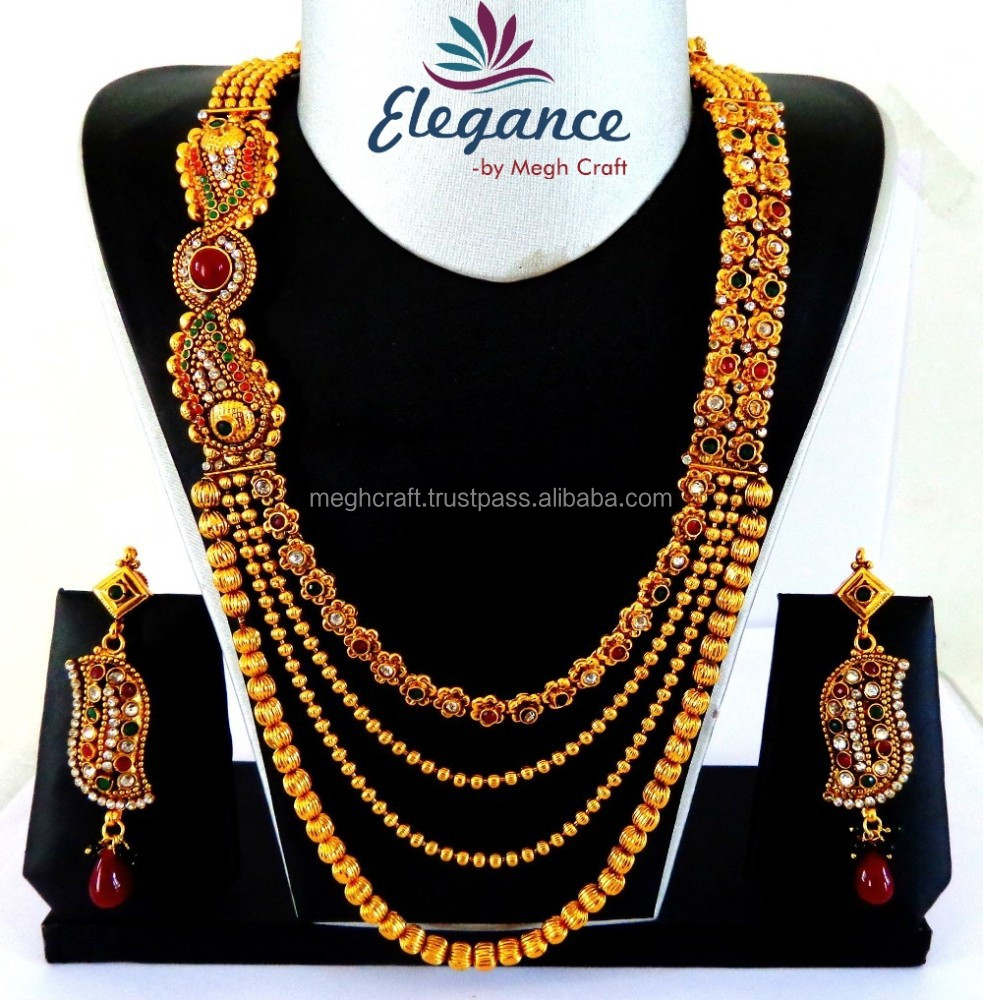 South Indian Necklace Set Jewelry Bollywood Designer Women Ethnic
