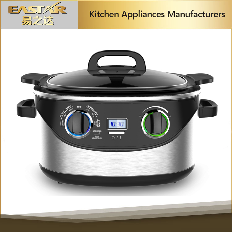 2016 New hot sale slow cooker LCD display electric rice cooker 8 in 1 multi cooker