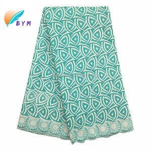 Nigerian lace swiss voile lace african lace embroidery fabric FS025 For Wedding