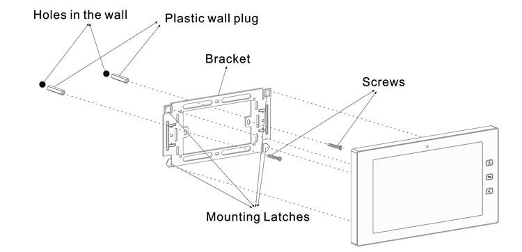 2019 Nieuwe ontwerp TCP IP 10 inch touch screen monitor video deurtelefoon