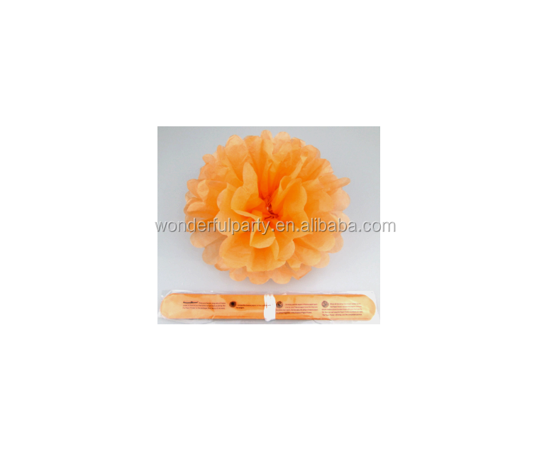 Party Decorations Craft Orange Tissue Paper