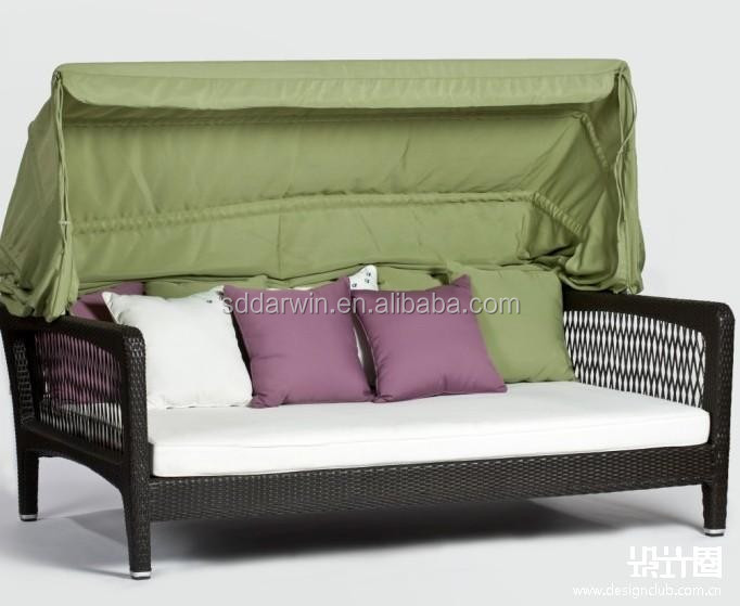 Rattan Outdoor Schlafsofa Mit Baldachin - Buy Rattan Outdoor Rundes Sofa  Mit Baldachin,Outdoor Schlafsofa,Outdoor Weidensofa Baldachin Product on ...