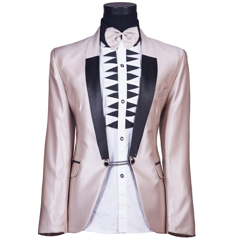 ccf1b02d4b9 Get Quotations · Tuxedo Dress Suits Men 2015 New Arrival Men Wedding Suits  Jackets and Pants Champagne Groom Groomsman