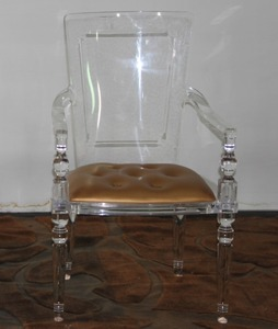 Acrylic Armed Chair with Charpie Seat in 2017 Chinese New Style
