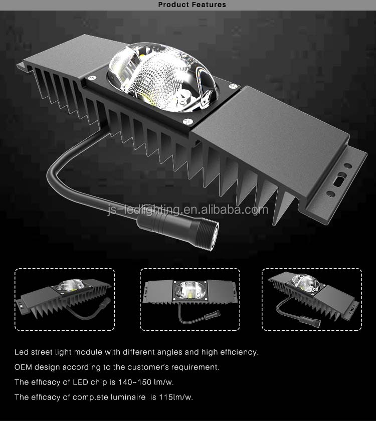 Energy Saving 90*150 degree outoor lighting module with good heatsink and IP rate
