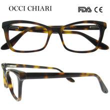 OCCI CHIARI 2018 модные Деми ацетатные женские очки кошачий глаз с прозрачными линзами оправы для очков W-CERLESI(Китай)