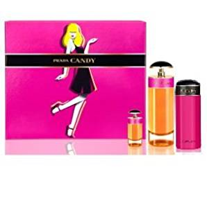 Prada Candy Eau De Parfum Spray 2.7 Oz, Mini Edp 7ml, Body Lotion 2.5 Oz and gift box