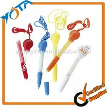 Multi colors lanyard pen