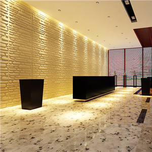 2019 Factory Price New Design Hot Material For Hotel Decoration Soft Leather 3d Wall Panel