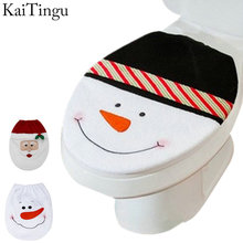 3 Style Choice 1 Pcs Snowman Toilet Seat Cover Toilet lid New Year Xmas Christmas Decoration