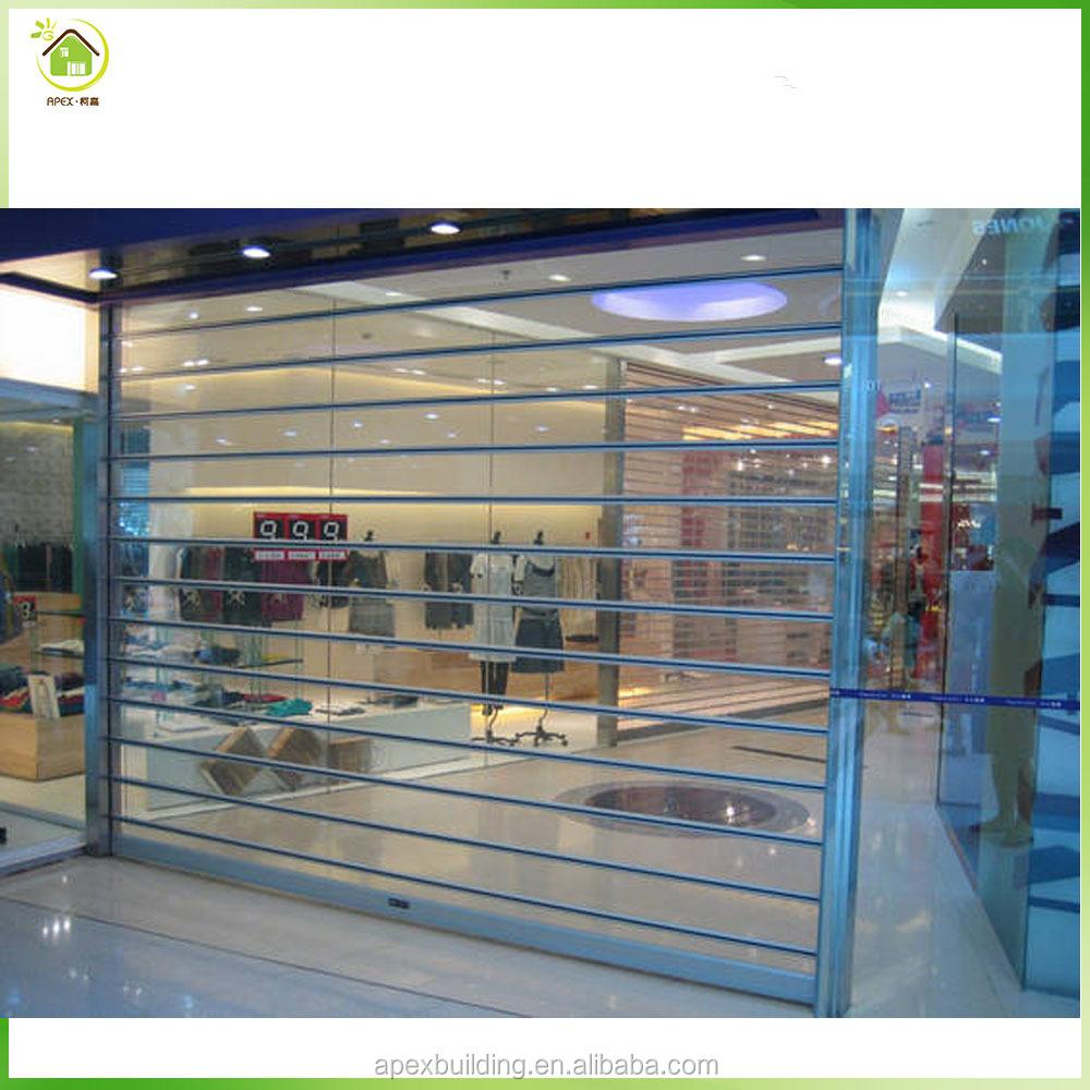 Aluminum Commercial Polycarbonate Transpa Roller Shutter Door