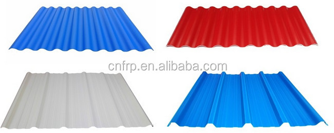 heat insulation plastic corrugated frp sheets for roofing