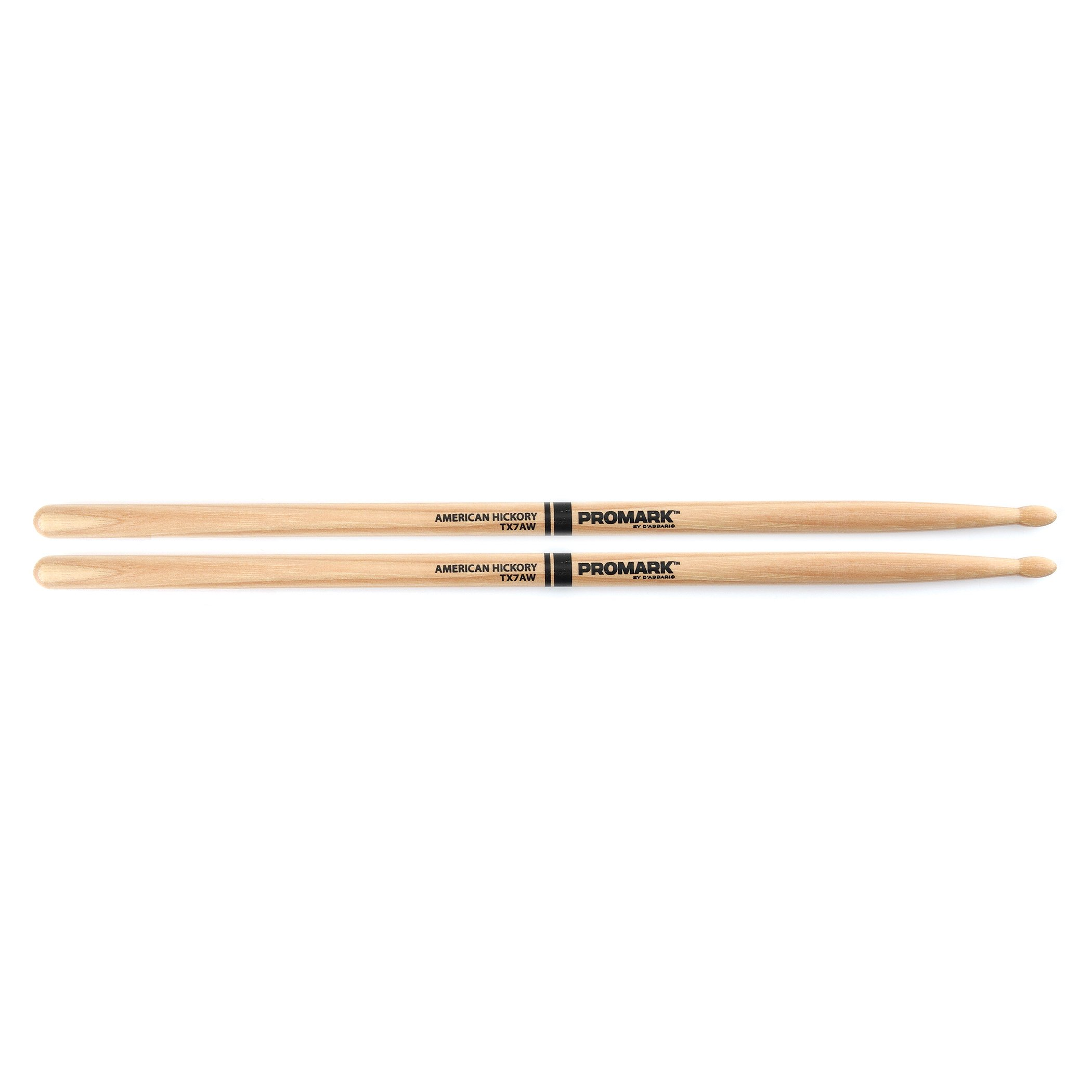 Promark American Hickory Classic 7A Drumsticks, Oval Tip, Single Pair