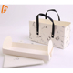 White ivory paperboard customized roll cake swiss pastry handle box packaging with neto