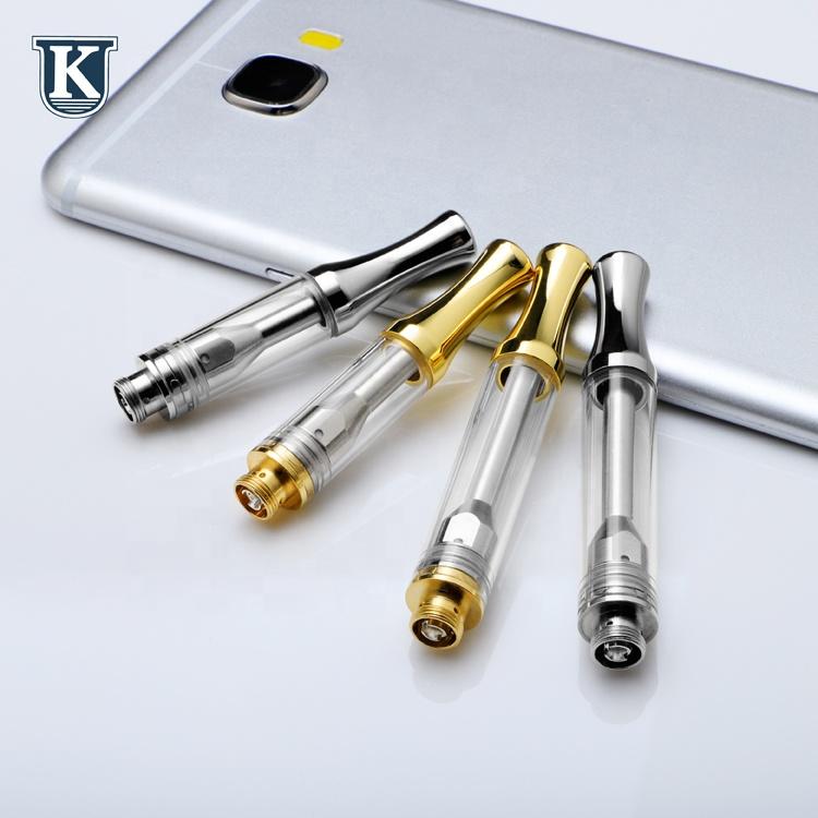 KU AC1003 cbd cartridge wholesale 0.5/1.0ml oil glass pipe vaporizer 510 thread ceramic vape cbd atomizer use for cbd cartridge, Gold/silver