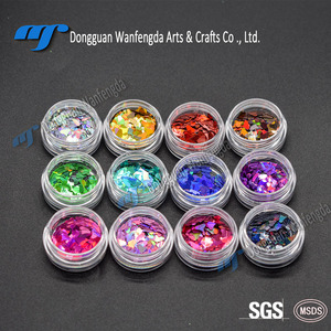 Small Packaging Holographic Hexagon Flake Cosmetic Wholesale Bulk Glitter For Nail/body/face Eyeliner