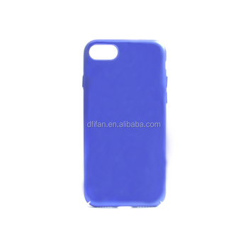 DFIFAN Hard PC material blue back cover case for apple iphone 7 , finger print proof phone case for iphone 7