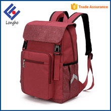 2017 New model contrast color trendy college school bags buckle straps flap fashion backpack for high school students