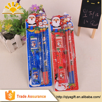 wholesale promotional cheap christmas school stationery set for