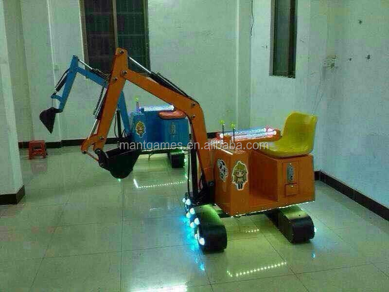 Mantong new games Electric Children Excavator / Children Excavator Kids Game Machine For Sale