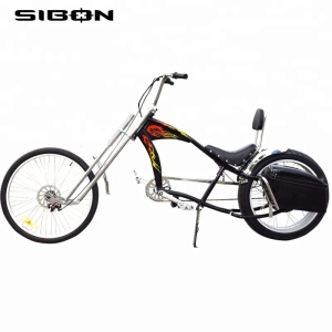 SIBON lithium battery disc brake rear brushless motor suspension fork 48v 1000w black adult electric chopper bike