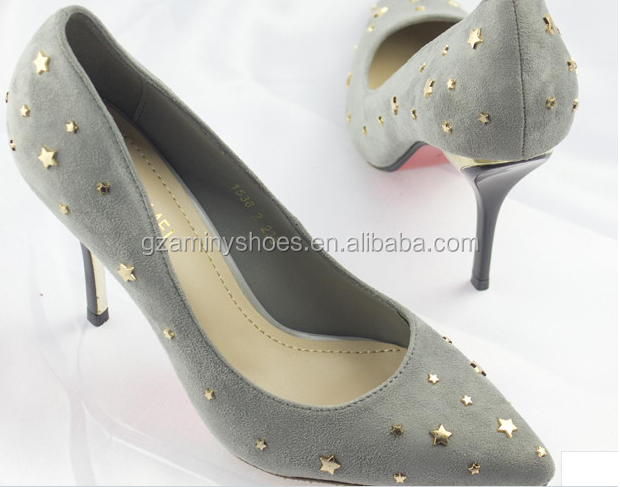 Classic Women shoes Leather Suede pump rvqR1rw