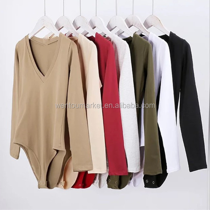 Wholesale Long Sleeve Women Solid Color Bustiers