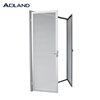 Aluminium white stainless steel hinged security door interior outward design