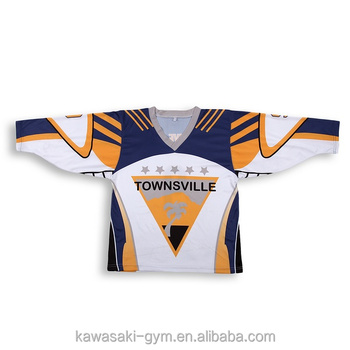 Kawasaki Team Canada Ice Hockey Jersey with Sewing Pattern Hockey Jersey No Logo