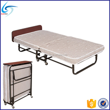 Hotel guest room single size roll away folding hotel extra bed