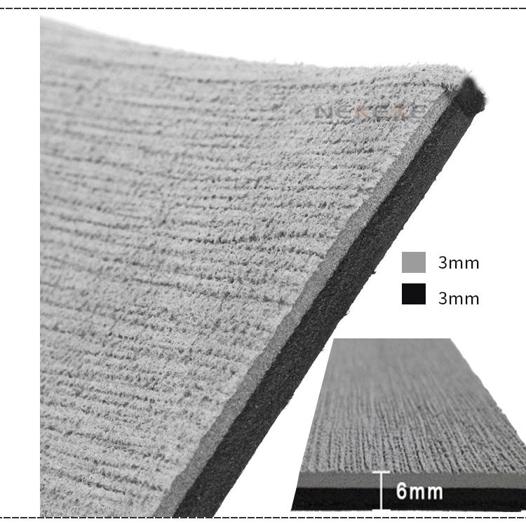 90 x 240 CM thick 6 mm thick gray marine grade Eva foam deck pad sheet
