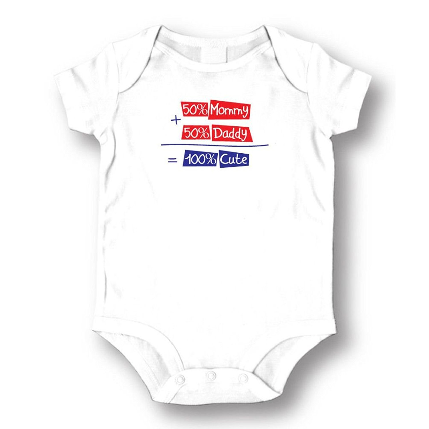 Dustin clothing series 50% Mummy 50% Daddy 100% Cute Baby Boys Girls Toddlers Funny Romper 0-24M