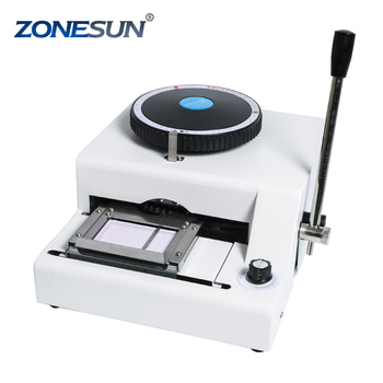 ZONESUN Stainless Steel Metal Embossing Machine Dog Tag Embosser Machine Number Plate 52 letters Characters