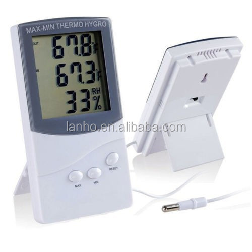 Azerin High Quality Digital LCD Indoor/ Outdoor Thermometer Hygrometer Temperature Humidity Meter
