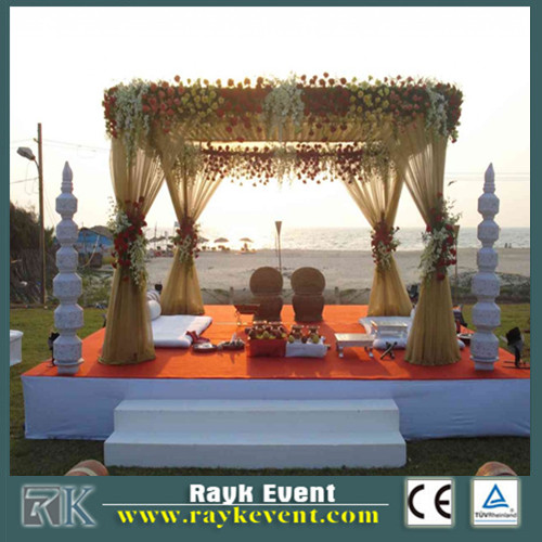Wedding Decoration party Tent indian wedding mandap designs Used pipe and drape on special