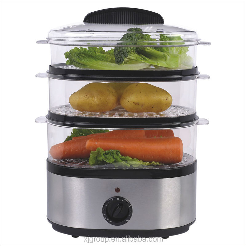 Stainless Steel Electric Vegetable Steamer Xj 92214/ivs   Buy Vegetable  Steamer,Electric Vegetable Steamer,S/s Vegetable Steamer Product On  Alibaba.com