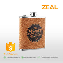 8oz customer logo promotion gift stainless steel hip flask