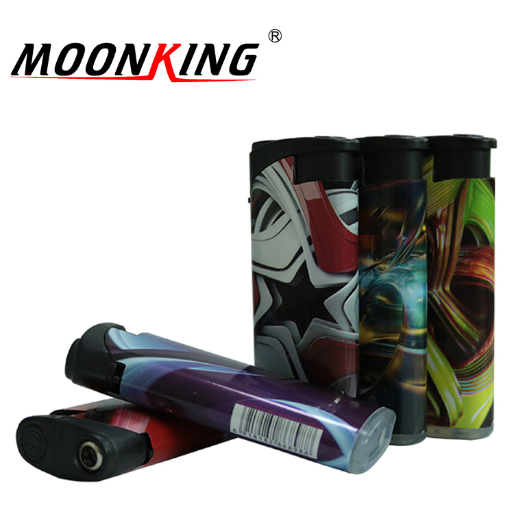 Private promotional designs photo wrap make cheap custom plastic lighters