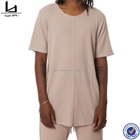 Wholesale fitness apparel manufacturers hip hop long tall tee men tshirt