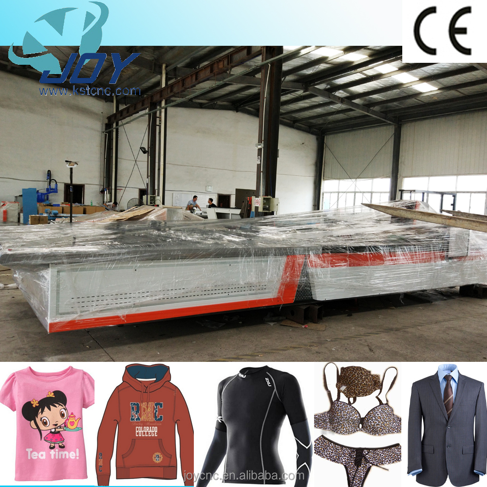 Knitted apparel industrial fabric cnc cutter, computertized cloth cutting table