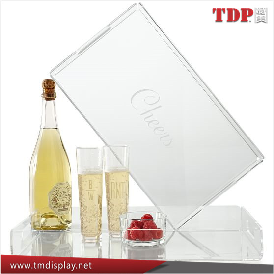 Manufacturer Rectangle Acrylic Serving Trays With Paper Insert ...