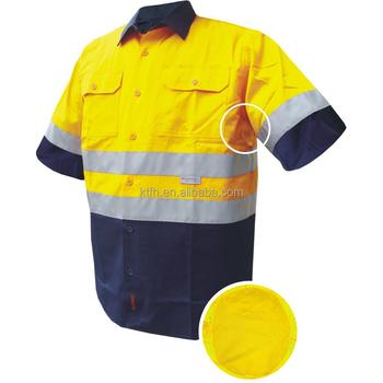 fb03ac2a8 Hombres camisas de Polo Hi Vis alta Viz visibilidad manga larga de trabajo  de seguridad-