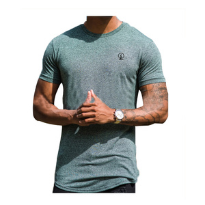 Wholesale 95 cotton 5 spandex t shirts for men /custom embroidered men's slim fit t-shirt H-2196