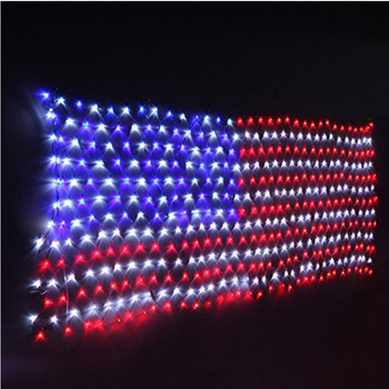 4 x 6 battery usa flag net christmas lights independence day july 4th stars and stripes